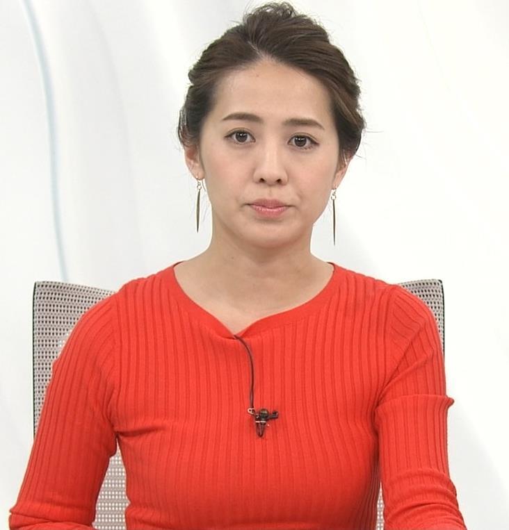 椿原慶子アナ カラダにぴったりしたニットでおっぱいクッキリ!キャプ・エロ画像5
