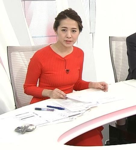 椿原慶子アナ カラダにぴったりしたニットでおっぱいクッキリ!キャプ・エロ画像6