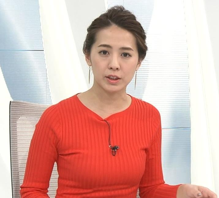 椿原慶子アナ カラダにぴったりしたニットでおっぱいクッキリ!キャプ・エロ画像7