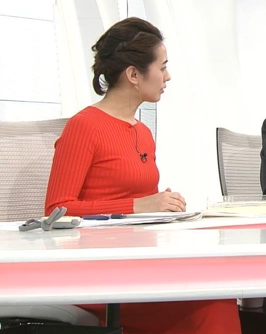 椿原慶子アナ カラダにぴったりしたニットでおっぱいクッキリ!キャプ・エロ画像8
