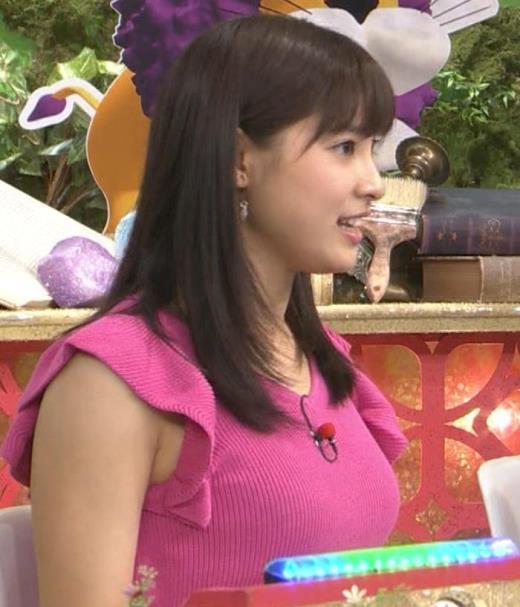 土屋太鳳 けっこうでかいニットおっぱいキャプ画像(エロ・アイコラ画像)