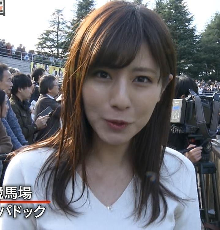 堤礼美アナ ニット横乳キャプ・エロ画像