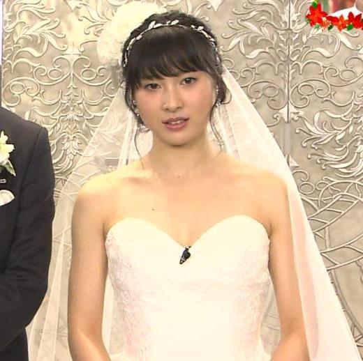 土屋太鳳 ウェディングドレスで大胆に肌露出キャプ画像(エロ・アイコラ画像)
