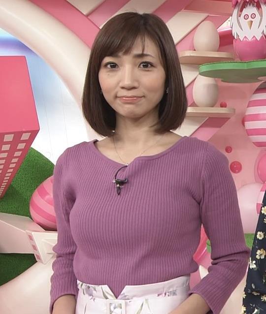 内田敦子アナ けっこうデカいニット乳キャプ・エロ画像