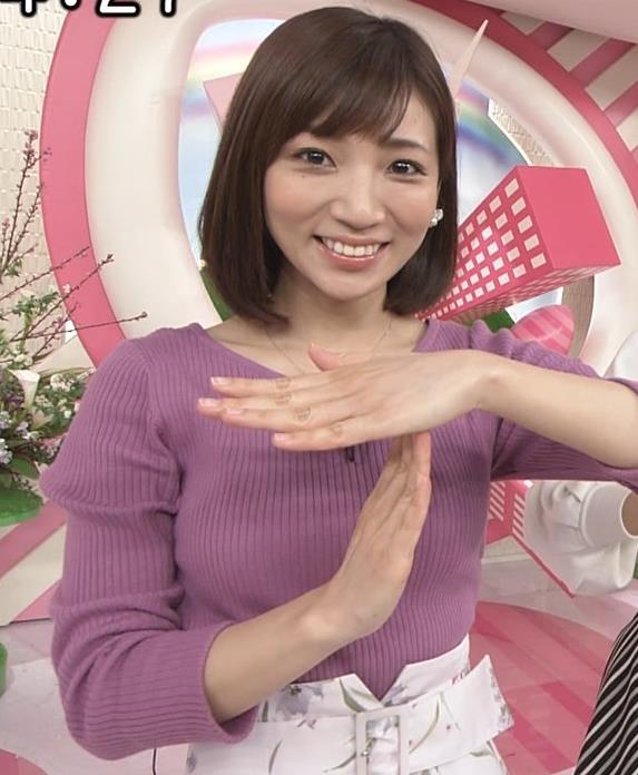 内田敦子アナ けっこうデカいニット乳キャプ・エロ画像3