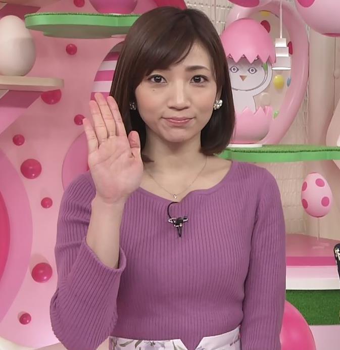 内田敦子アナ けっこうデカいニット乳キャプ・エロ画像6