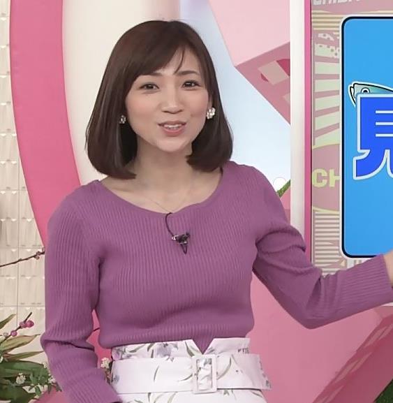内田敦子アナ けっこうデカいニット乳キャプ・エロ画像9