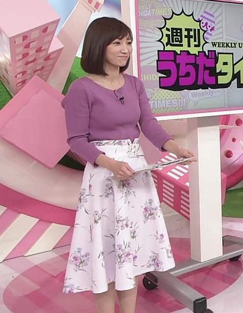 内田敦子アナ けっこうデカいニット乳キャプ・エロ画像10