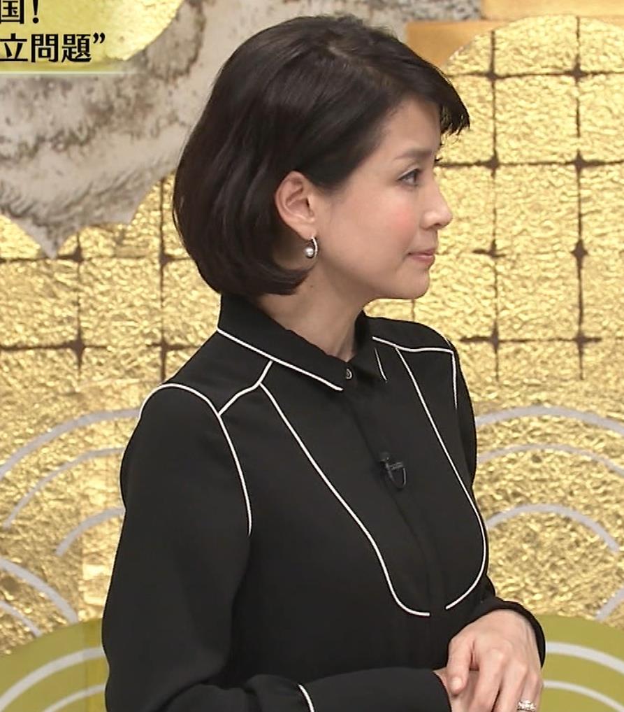 内田恭子 横乳。さすがに年齢が気になる。キャプ・エロ画像2