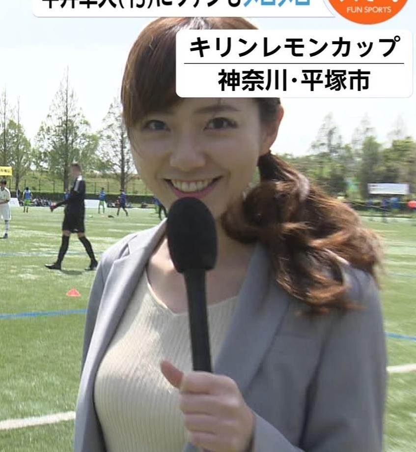 内田嶺衣奈アナ このニットおっぱいは高得点キャプ・エロ画像3