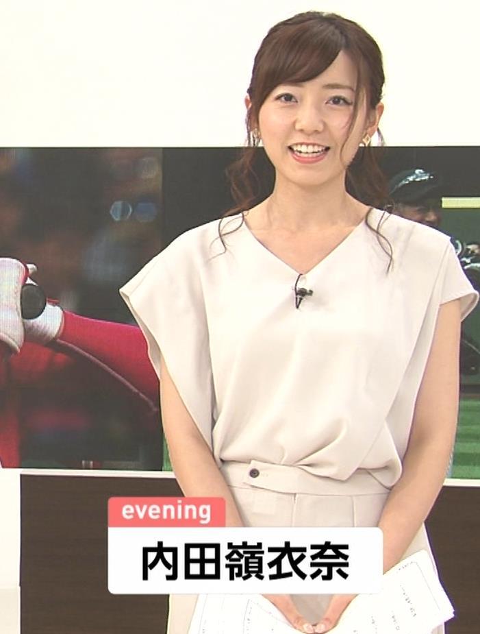 内田嶺衣奈アナ FNNプライムニュース イブニングキャプ・エロ画像3