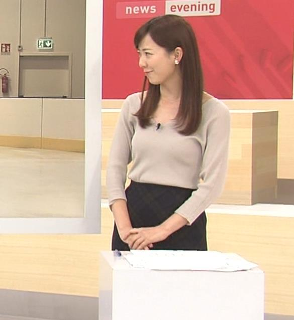 内田嶺衣奈アナ エロかったニット乳キャプ・エロ画像