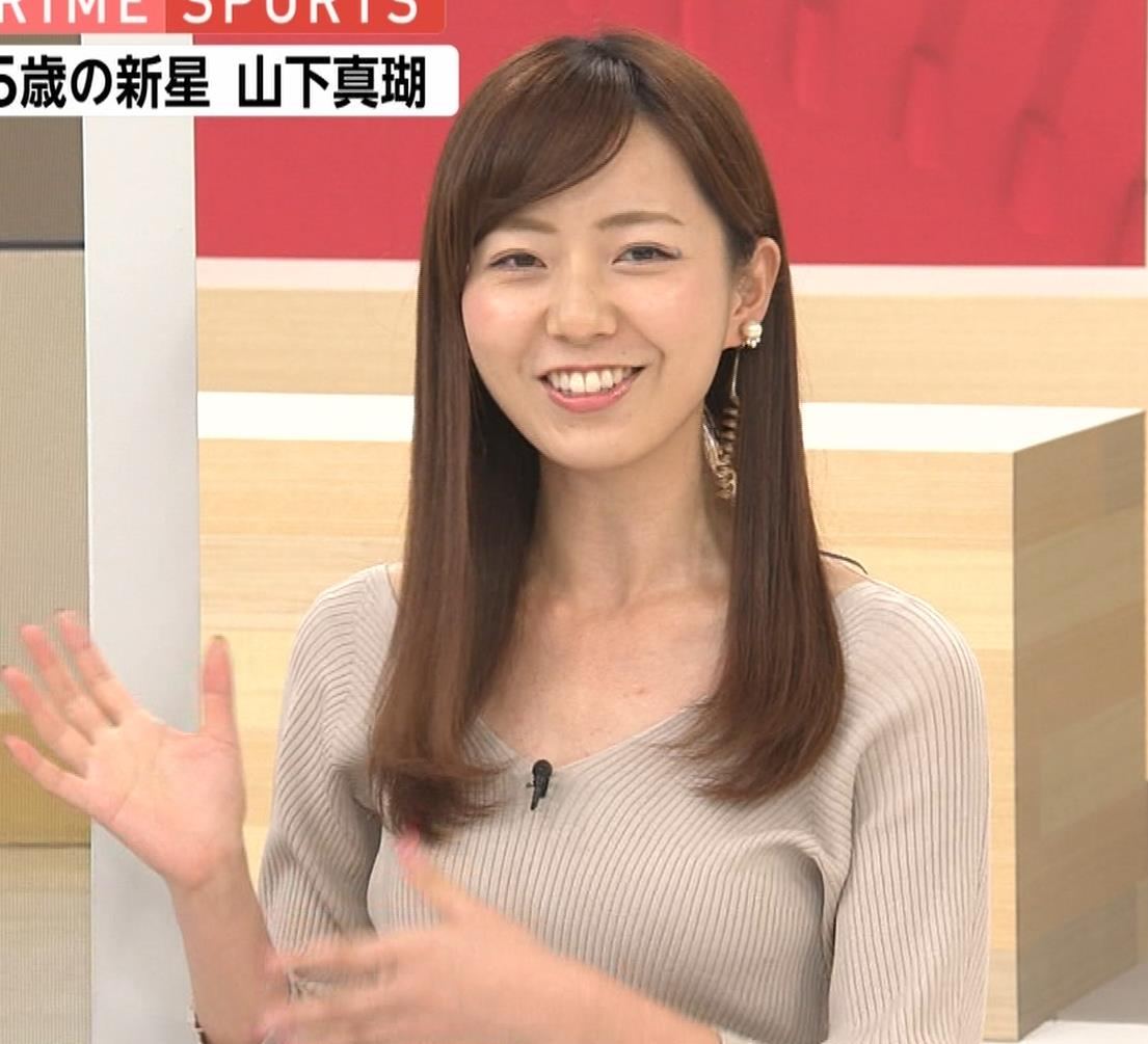 内田嶺衣奈アナ エロかったニット乳キャプ・エロ画像4