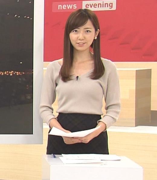 内田嶺衣奈アナ エロかったニット乳キャプ・エロ画像5