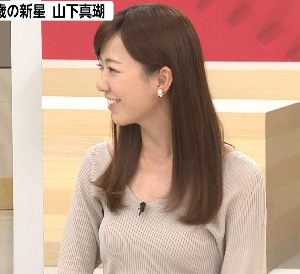 内田嶺衣奈アナ エロかったニット乳キャプ・エロ画像6