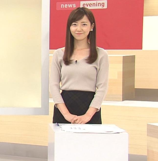 内田嶺衣奈アナ エロかったニット乳キャプ・エロ画像7