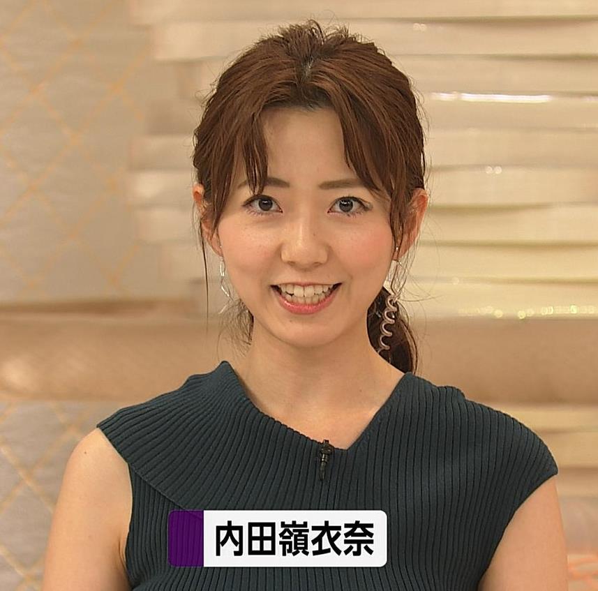内田嶺衣奈アナ 美人アナのニットおっぱいキャプ・エロ画像3