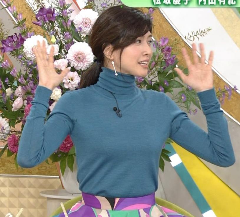 内田有紀 エロいニットおっぱいキャプ・エロ画像16