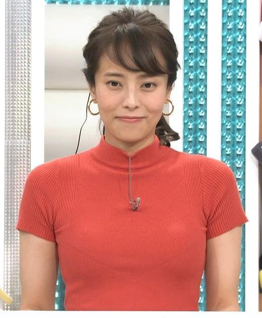 上田まりえアナ ピチピチのニットでおっぱいが際立つキャプ・エロ画像4