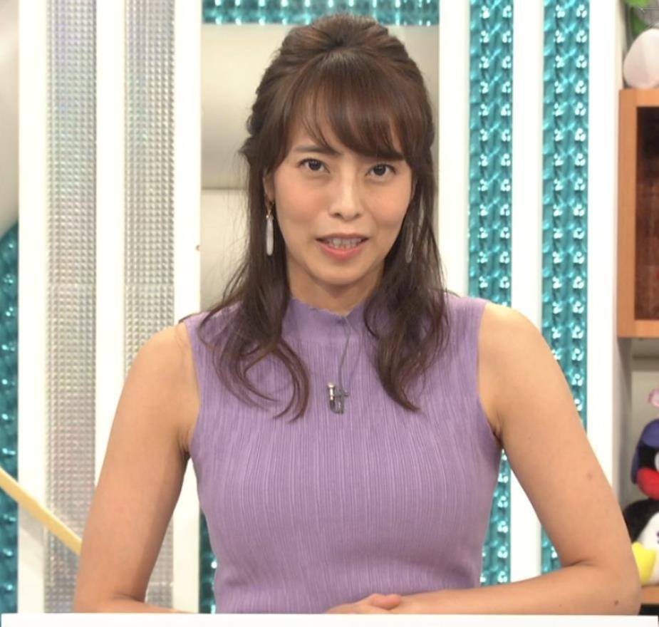 上田まりえ ピチピチなノースリーブキャプ・エロ画像