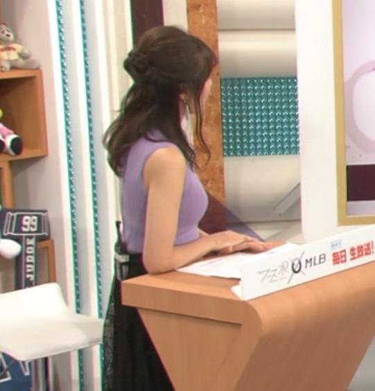 上田まりえ ピチピチなノースリーブキャプ・エロ画像4