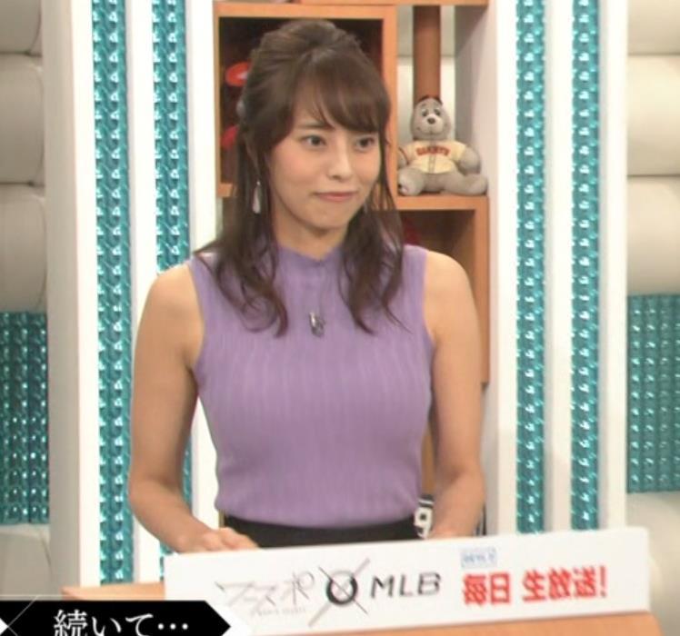 上田まりえ ピチピチなノースリーブキャプ・エロ画像7
