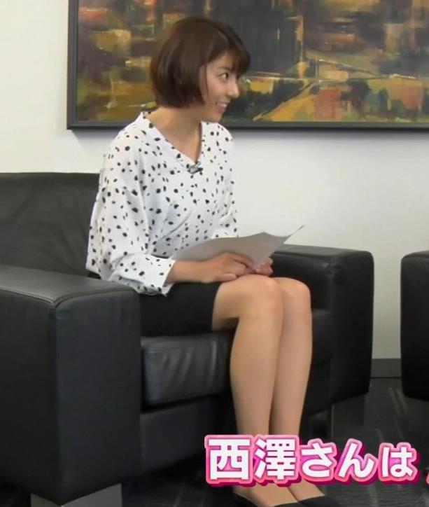 上村彩子アナ ミニスカ太ももキャプ・エロ画像4