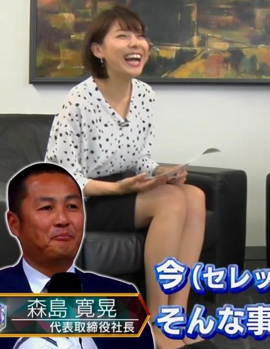 上村彩子アナ ミニスカ太ももキャプ・エロ画像5