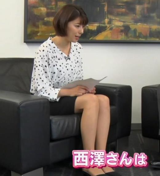 上村彩子アナ ミニスカ太ももキャプ画像(エロ・アイコラ画像)