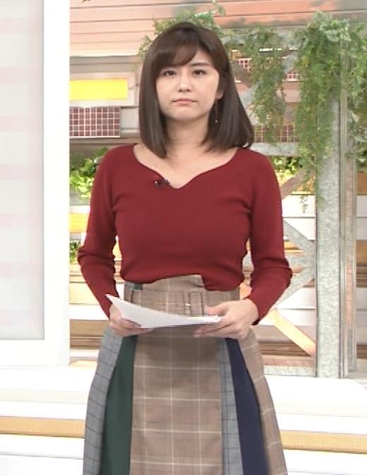 宇賀なつみアナ ニット巨乳がエロいわぁキャプ・エロ画像2