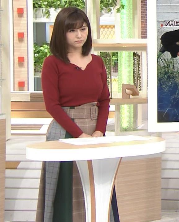 宇賀なつみアナ ニット巨乳がエロいわぁキャプ・エロ画像3