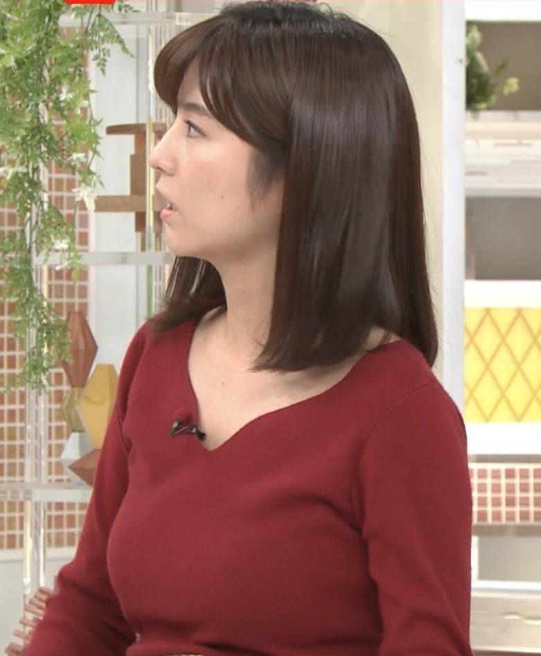 宇賀なつみアナ ニット巨乳がエロいわぁキャプ・エロ画像5