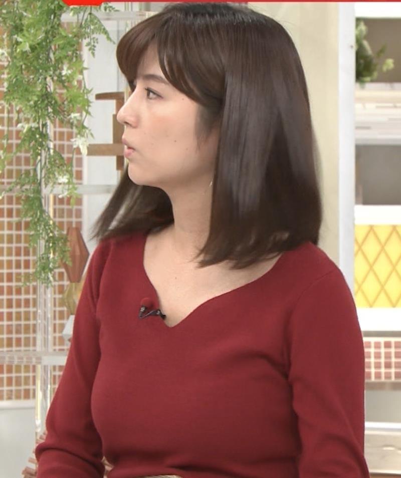 宇賀なつみアナ ニット巨乳がエロいわぁキャプ・エロ画像6