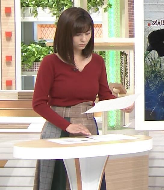 宇賀なつみアナ ニット巨乳がエロいわぁキャプ・エロ画像7