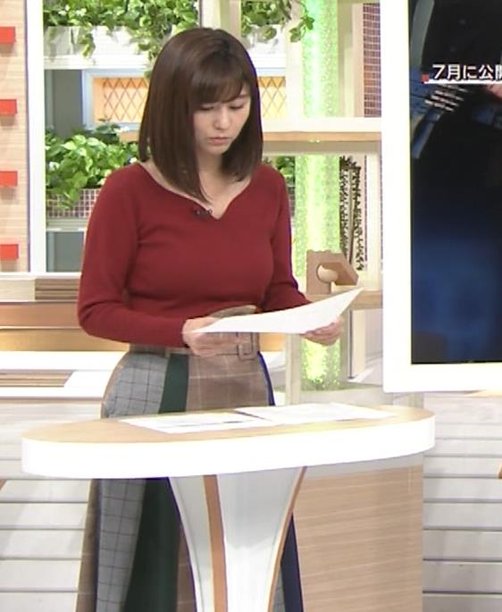 宇賀なつみアナ ニット巨乳がエロいわぁキャプ・エロ画像8