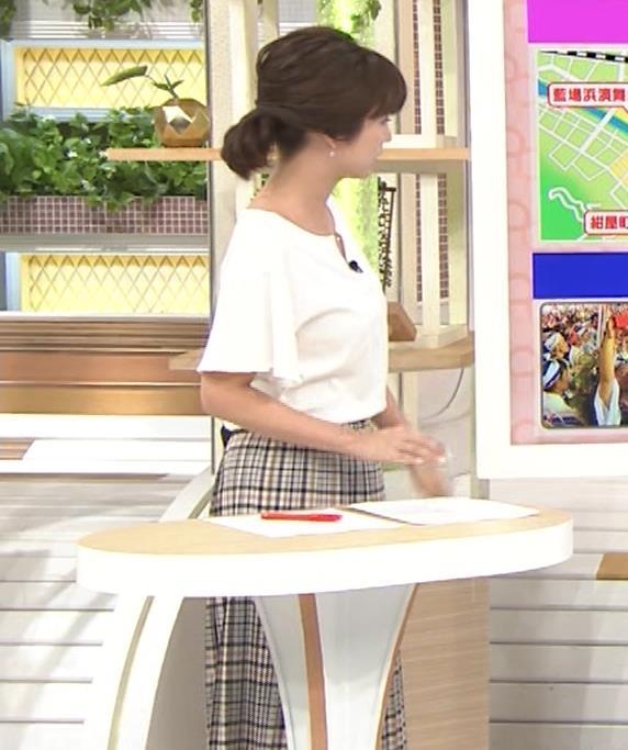 宇賀なつみアナ 胸のサイズ感がわかるGIF動画キャプ・エロ画像5