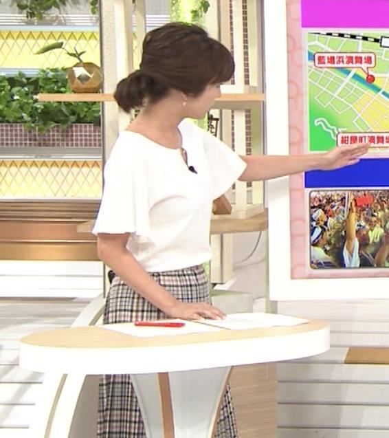 宇賀なつみアナ 胸のサイズ感がわかるGIF動画キャプ・エロ画像6