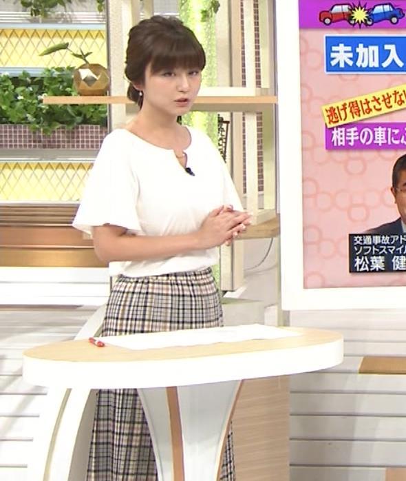 宇賀なつみアナ 胸のサイズ感がわかるGIF動画キャプ・エロ画像7