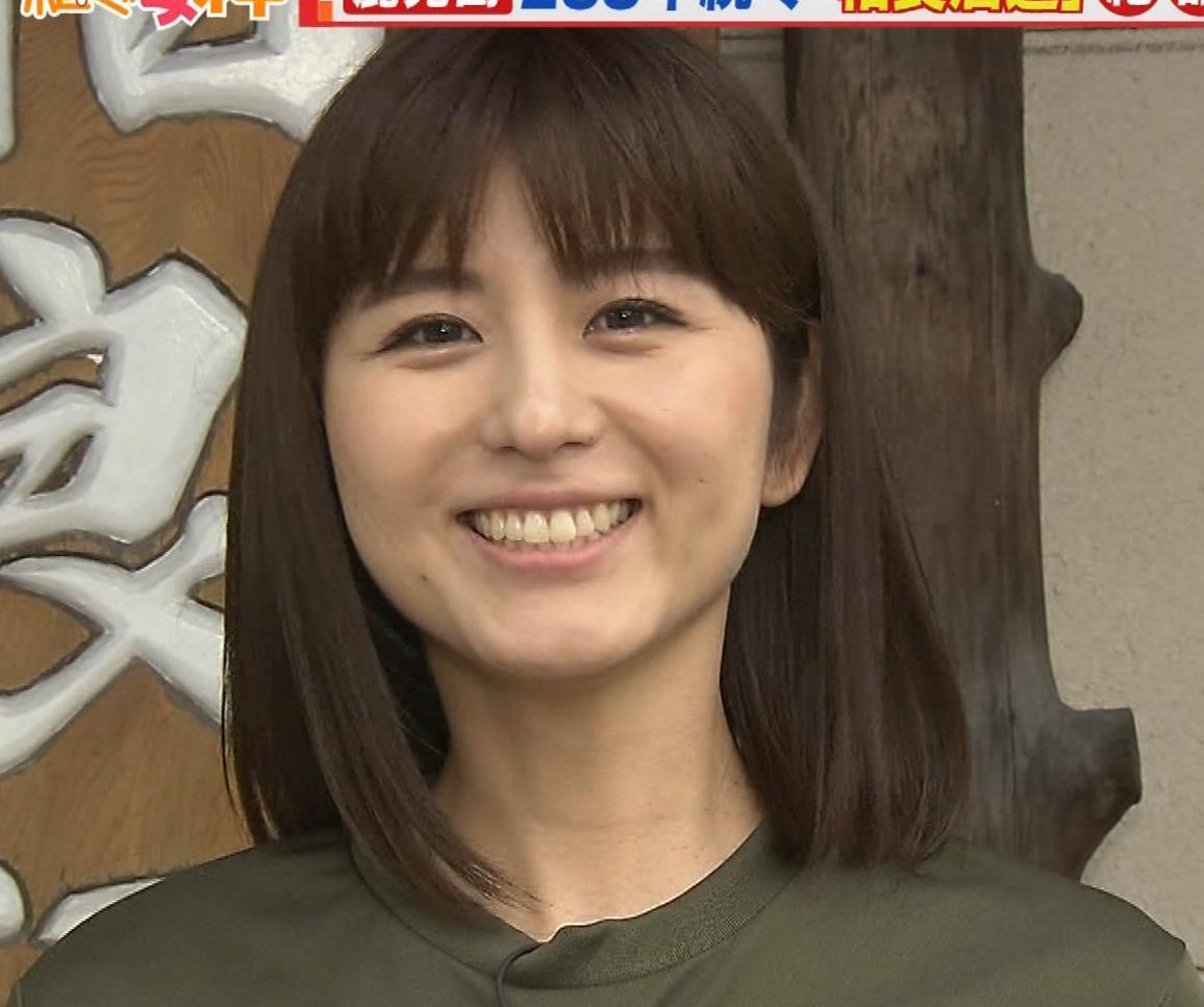 宇賀なつみアナ 巨乳×Tシャツキャプ・エロ画像2