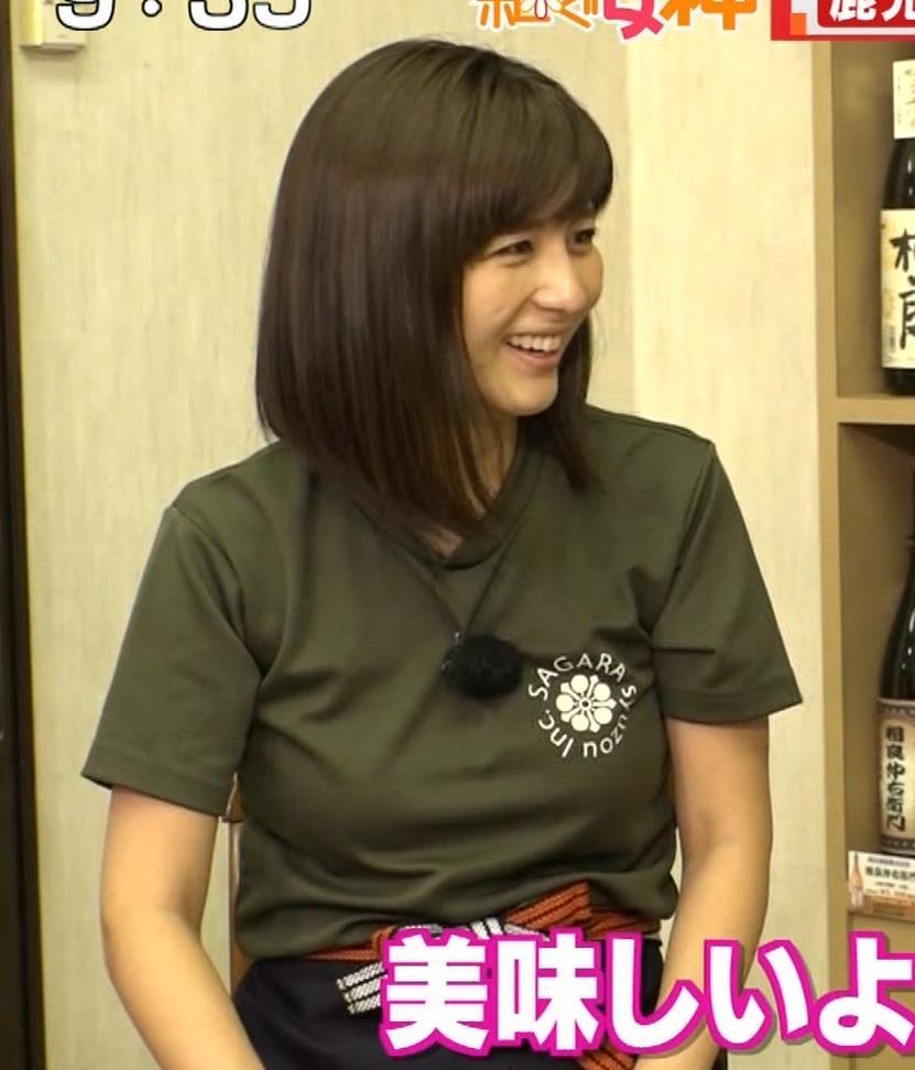 宇賀なつみアナ 巨乳×Tシャツキャプ・エロ画像11