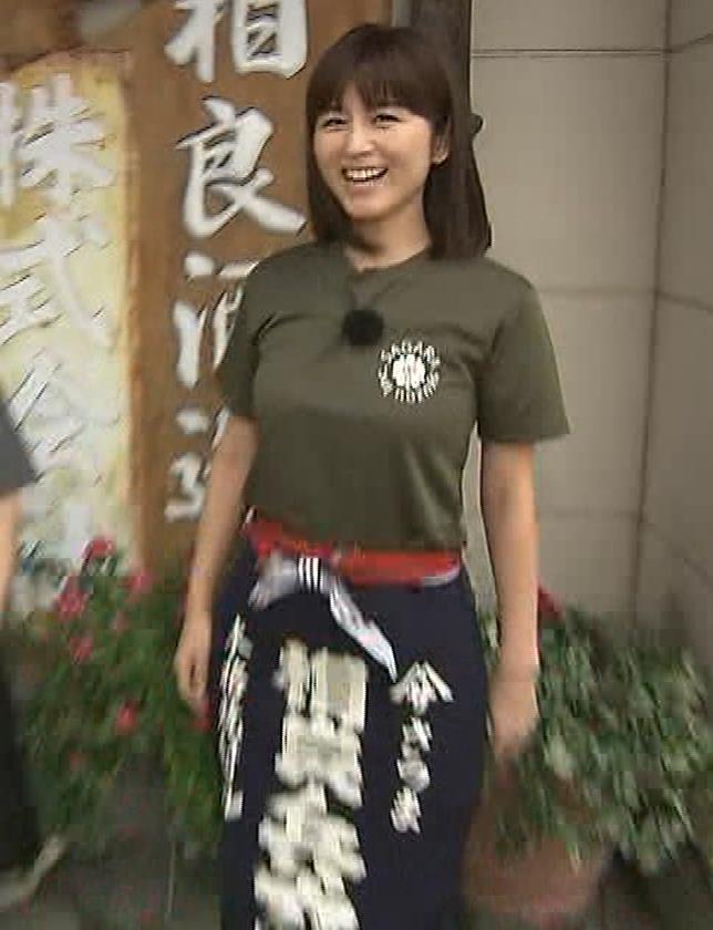 宇賀なつみアナ 巨乳×Tシャツキャプ・エロ画像3