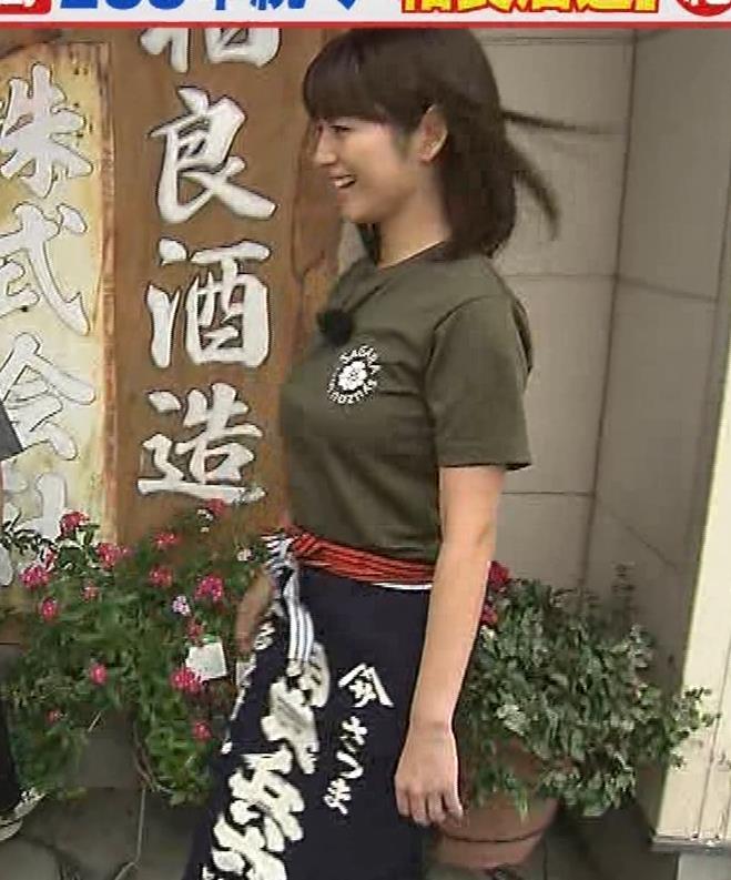 宇賀なつみアナ 巨乳×Tシャツキャプ・エロ画像4