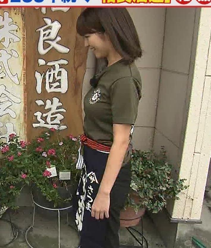 宇賀なつみアナ 巨乳×Tシャツキャプ・エロ画像5