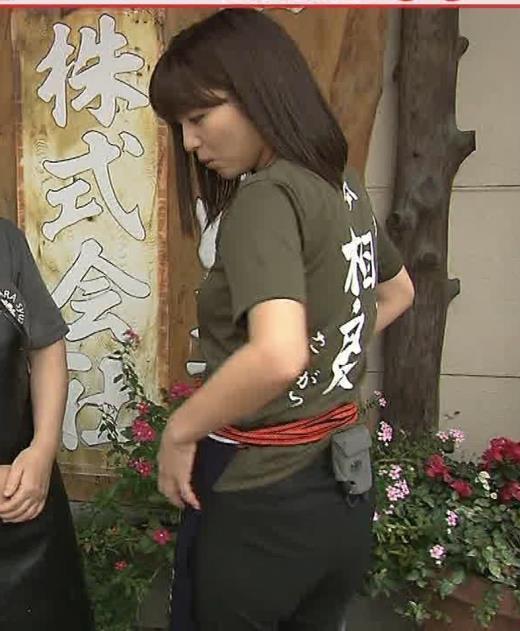 宇賀なつみアナ 巨乳×Tシャツキャプ画像(エロ・アイコラ画像)