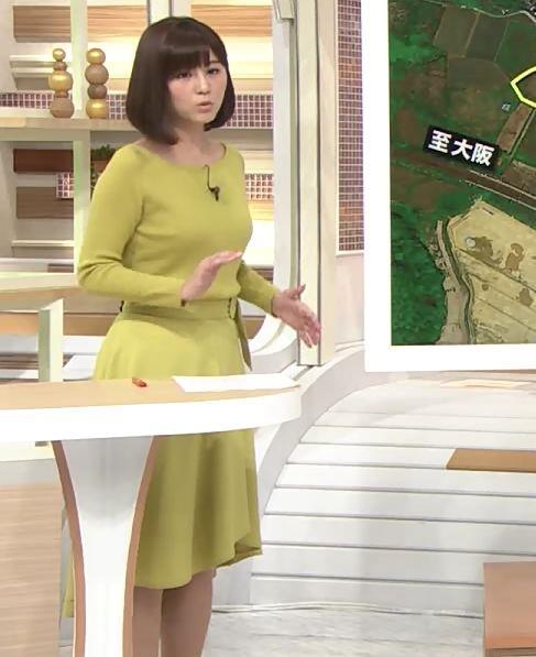 宇賀なつみアナ ニットでおっぱいが目立ってるよ!キャプ・エロ画像3