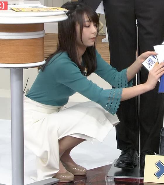 宇垣美里アナ またおっぱいがクッキリのニットキャプ・エロ画像6