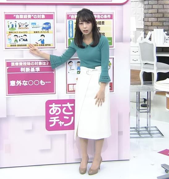 宇垣美里アナ またおっぱいがクッキリのニットキャプ・エロ画像8