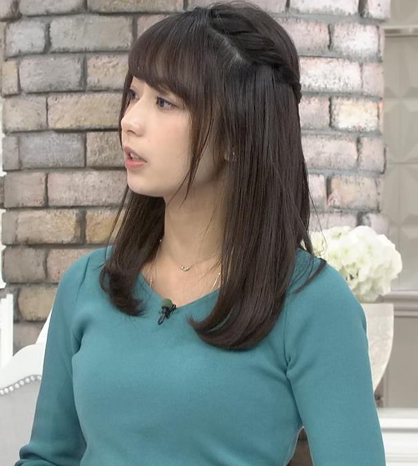 宇垣美里アナ またおっぱいがクッキリのニットキャプ・エロ画像10