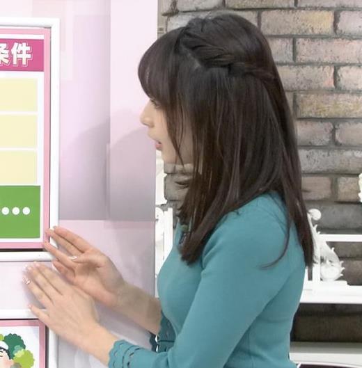 宇垣美里 またおっぱいがクッキリのニットキャプ画像(エロ・アイコラ画像)