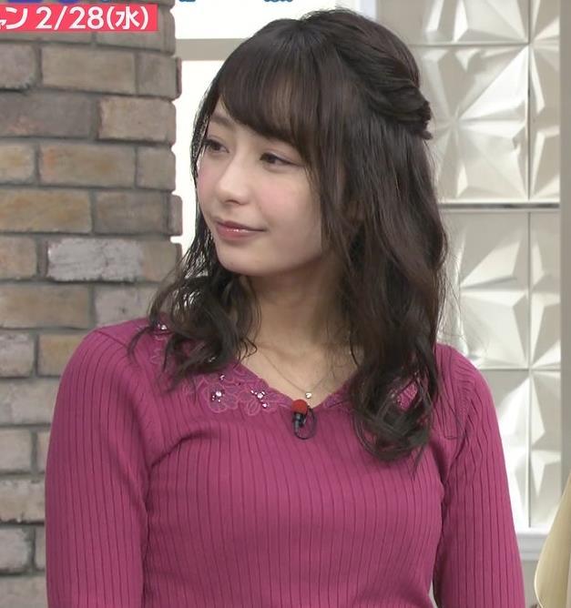 宇垣美里アナ 紫のニット姿キャプ・エロ画像2